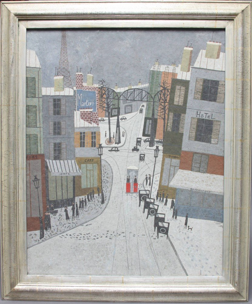 Paris Street in Snow by Armand Marie Guerin