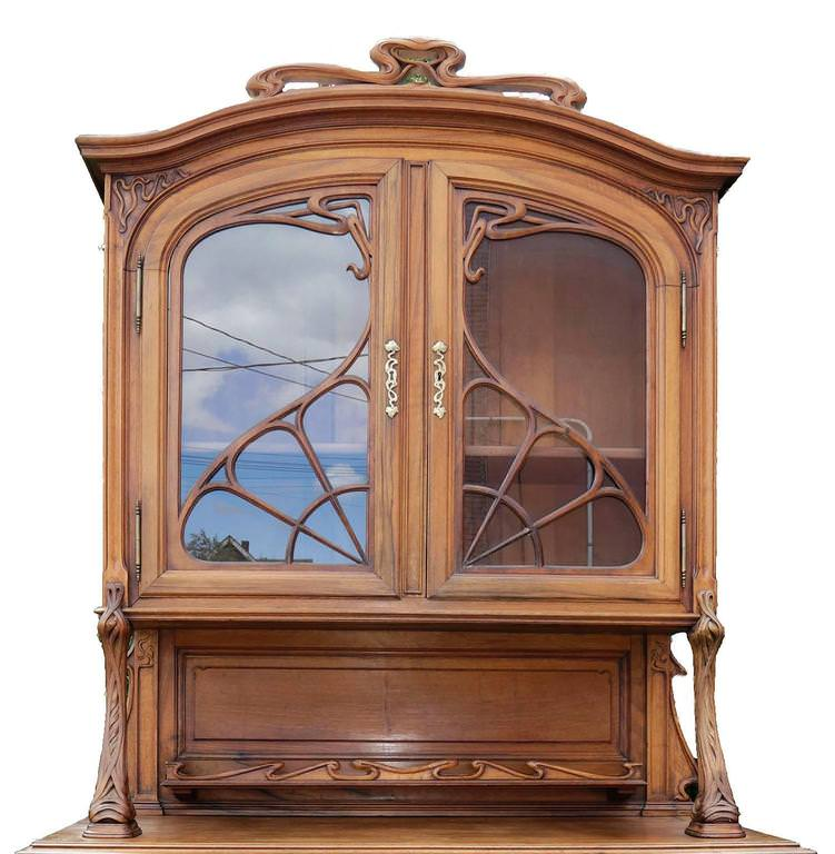 Art Nouveau Breakfront Cabinet by 19th Century French School