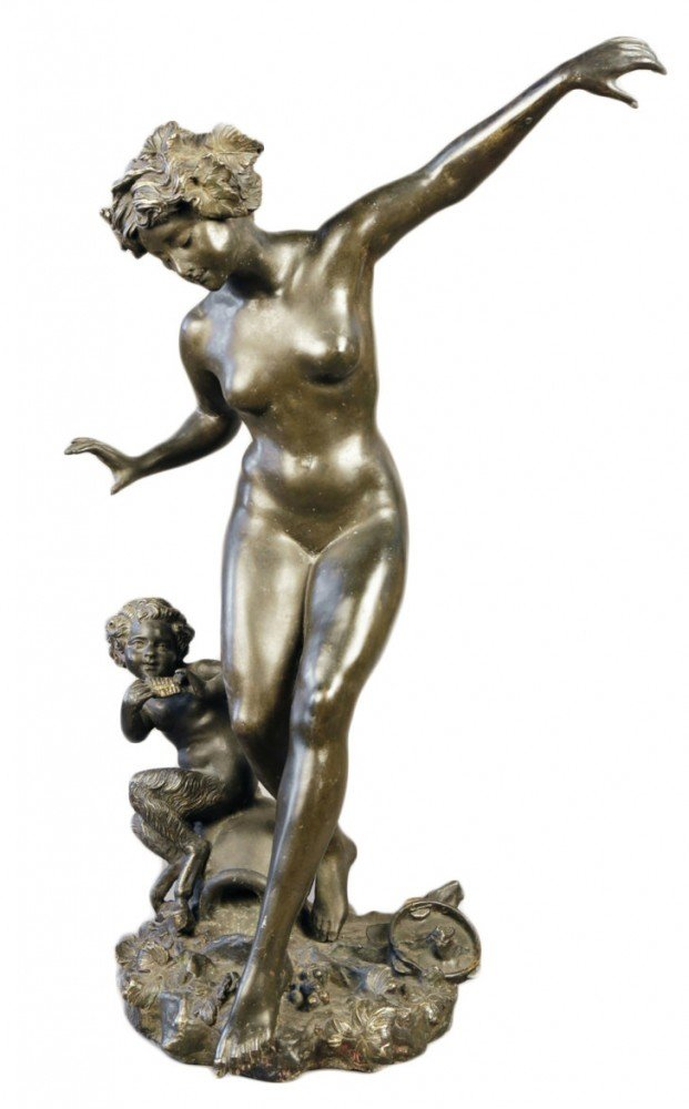 Nymph and Young Satyr by Auguste Moreau