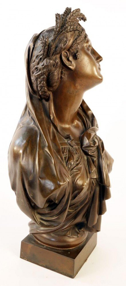 Bronze Bust of Ceres, Goddess of Agriculture, Fertility and Summer by 19th Century French School
