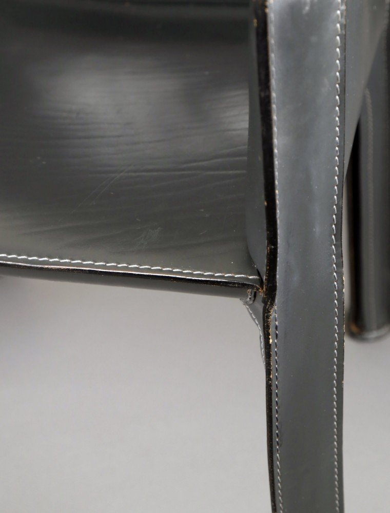 Leather Upholstery Decorative Art: Cab Chair designed by Mario Bellini for Cassina