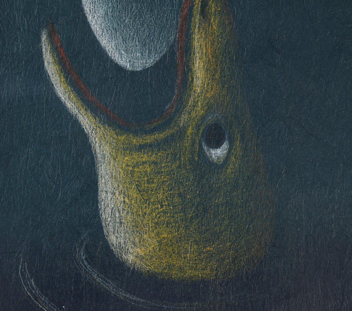 Abstract Acrylic and Pastel on Textured Paper:
