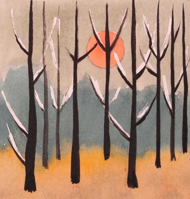 Evening Woods by Clarence Holbrook Carter