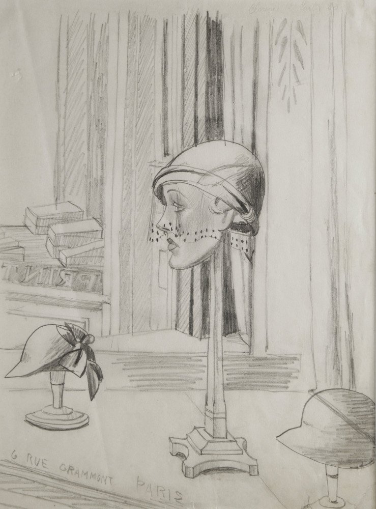 Still Life Graphite on Paper Drawing:
