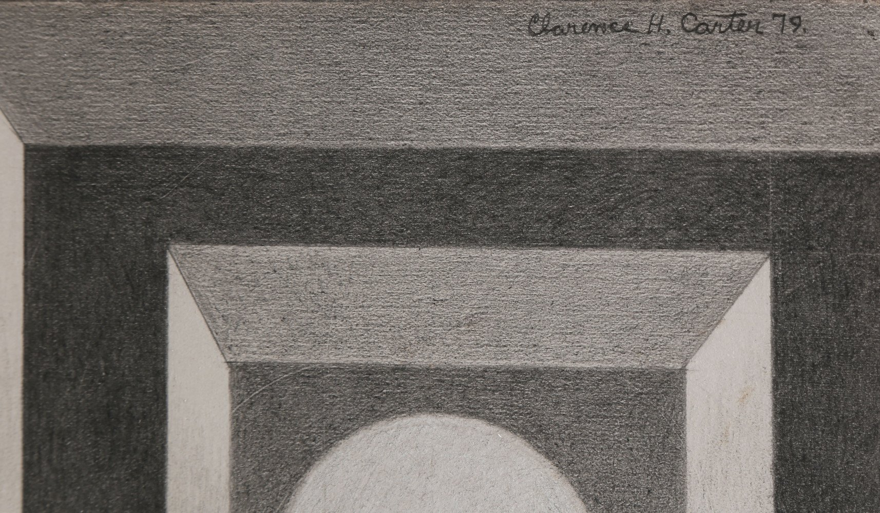 Abstract Graphite, Collage and White Heightening on Paper Drawing: