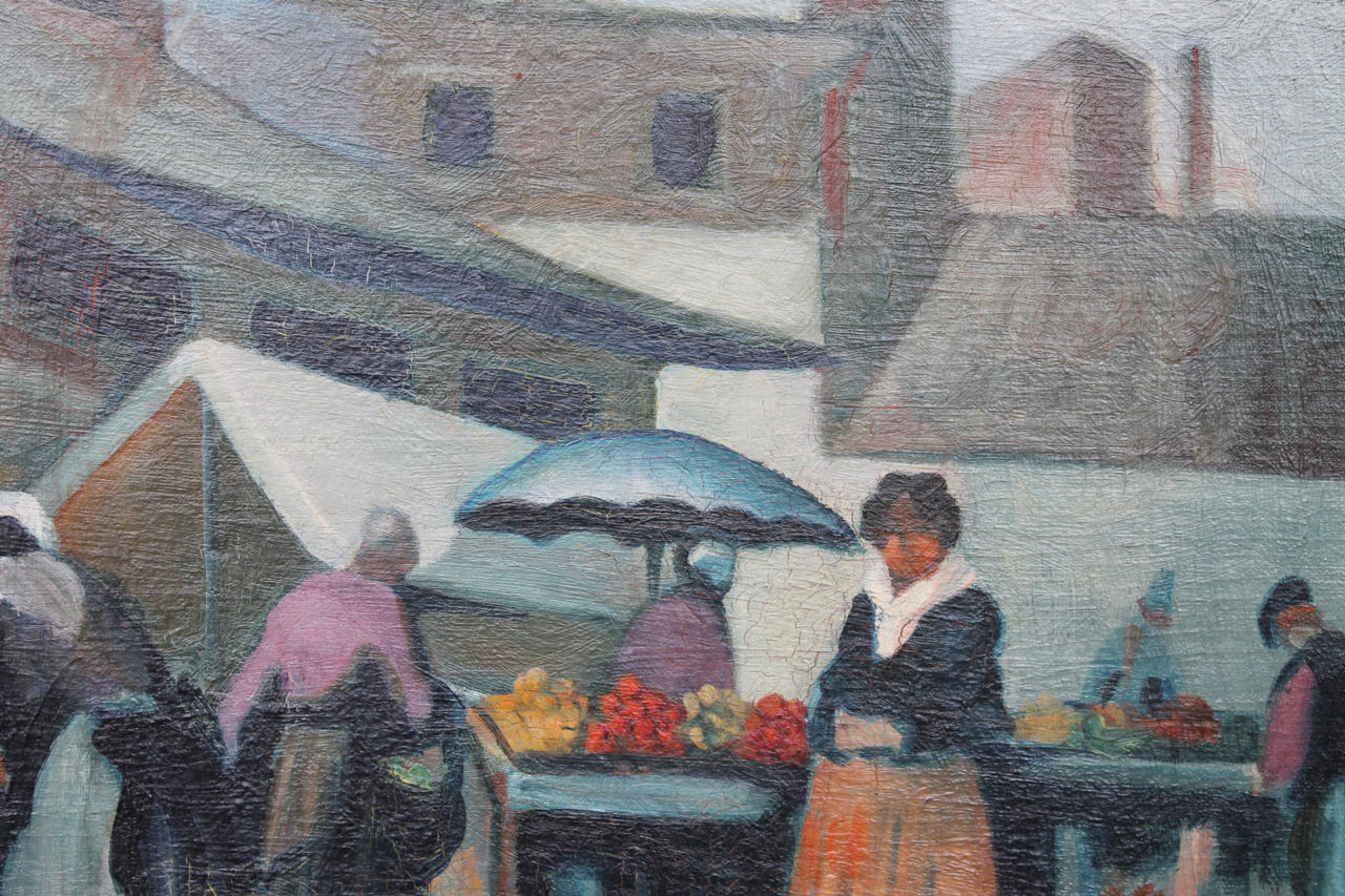 Market Scene, Italy  by Clarence Holbrook Carter