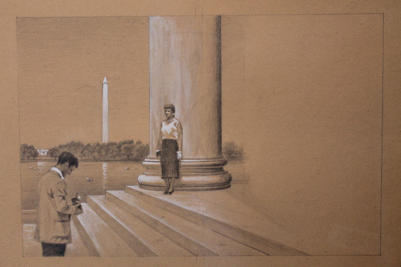 Sketch for Washington Cover by Clarence Holbrook Carter