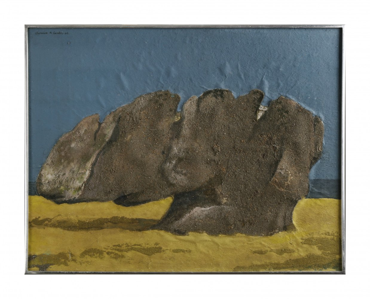 Abstract Landscape Acrylic and Sand on Scintilla Painting: