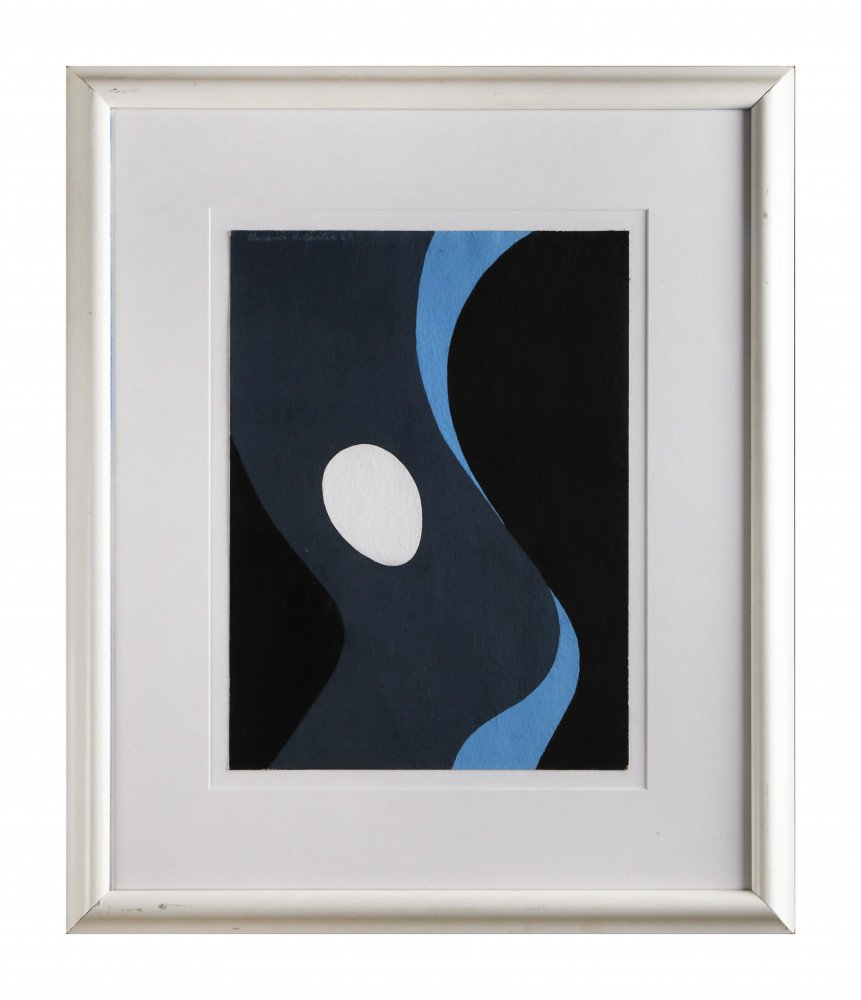 Figurative Abstract Acrylic on Paper Painting: