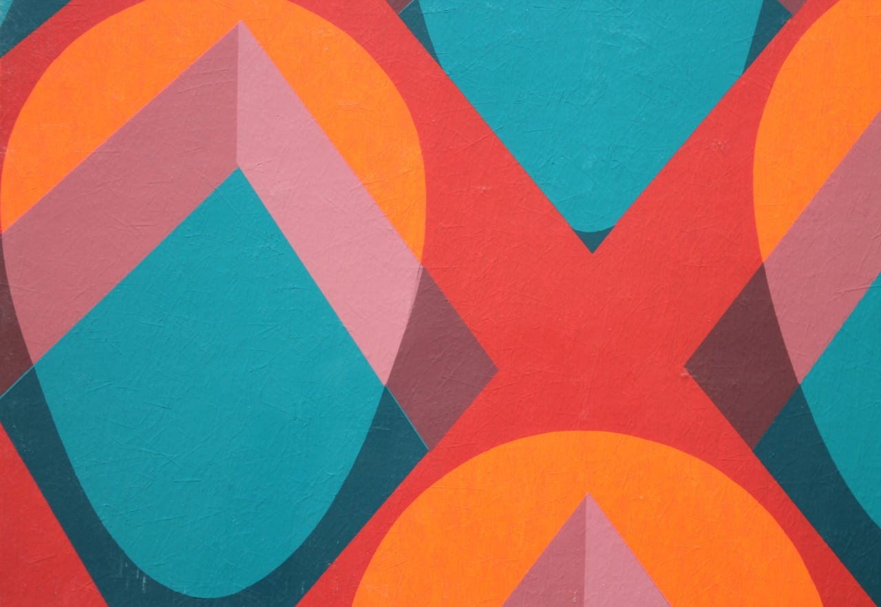 Abstract Acrylic on Paper Painting: