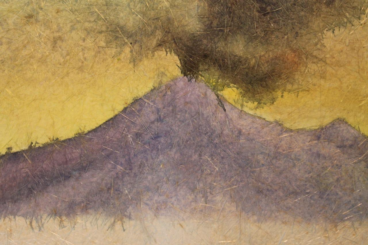 Landscape Watercolor on Textured Paper Painting: