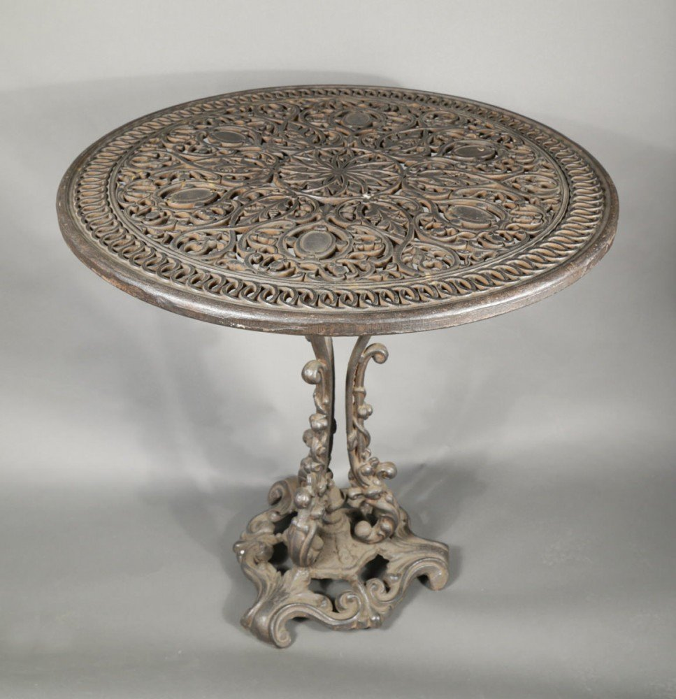 Cast Iron Garden Table by 19th Century American School