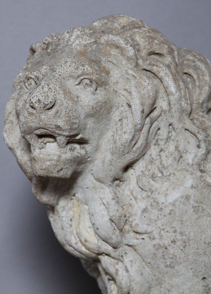 A Cast Stone Figure in the Style of a Medici Lion by 20th Century School