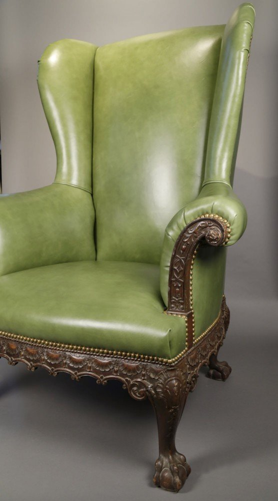 Chippendale Mahogany Wing Chair