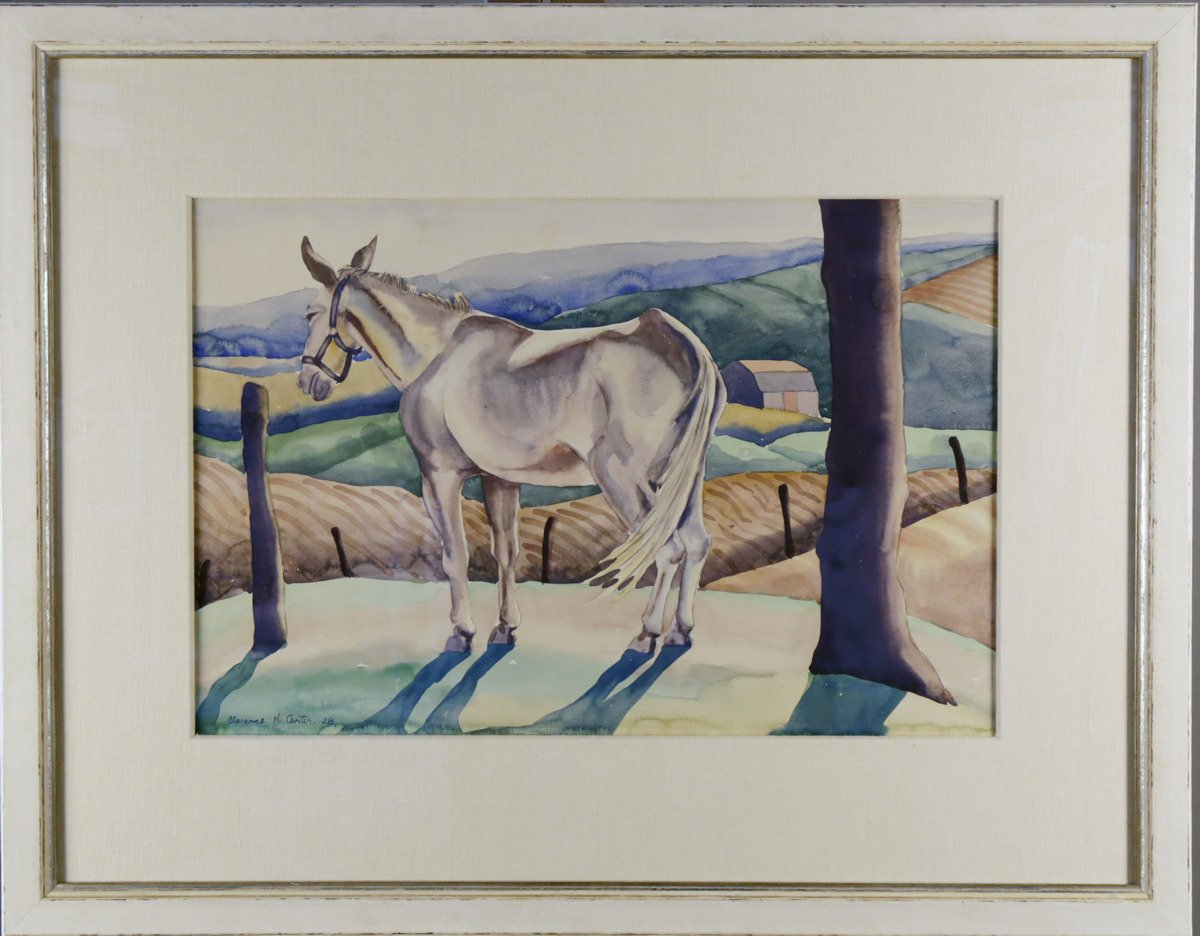 Mule in a Landscape by Clarence Holbrook Carter
