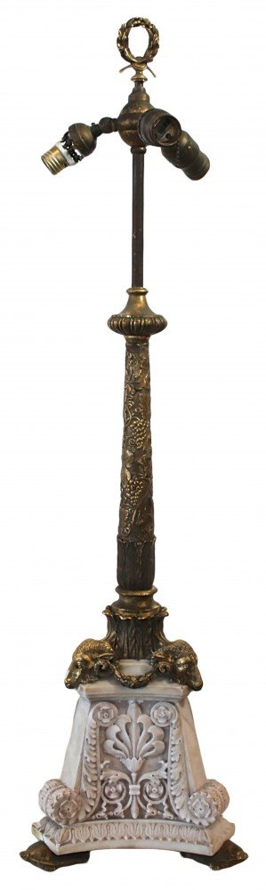 Edward F. Caldwell & Co. Marble and Gilt Bronze Table Lamp, New York