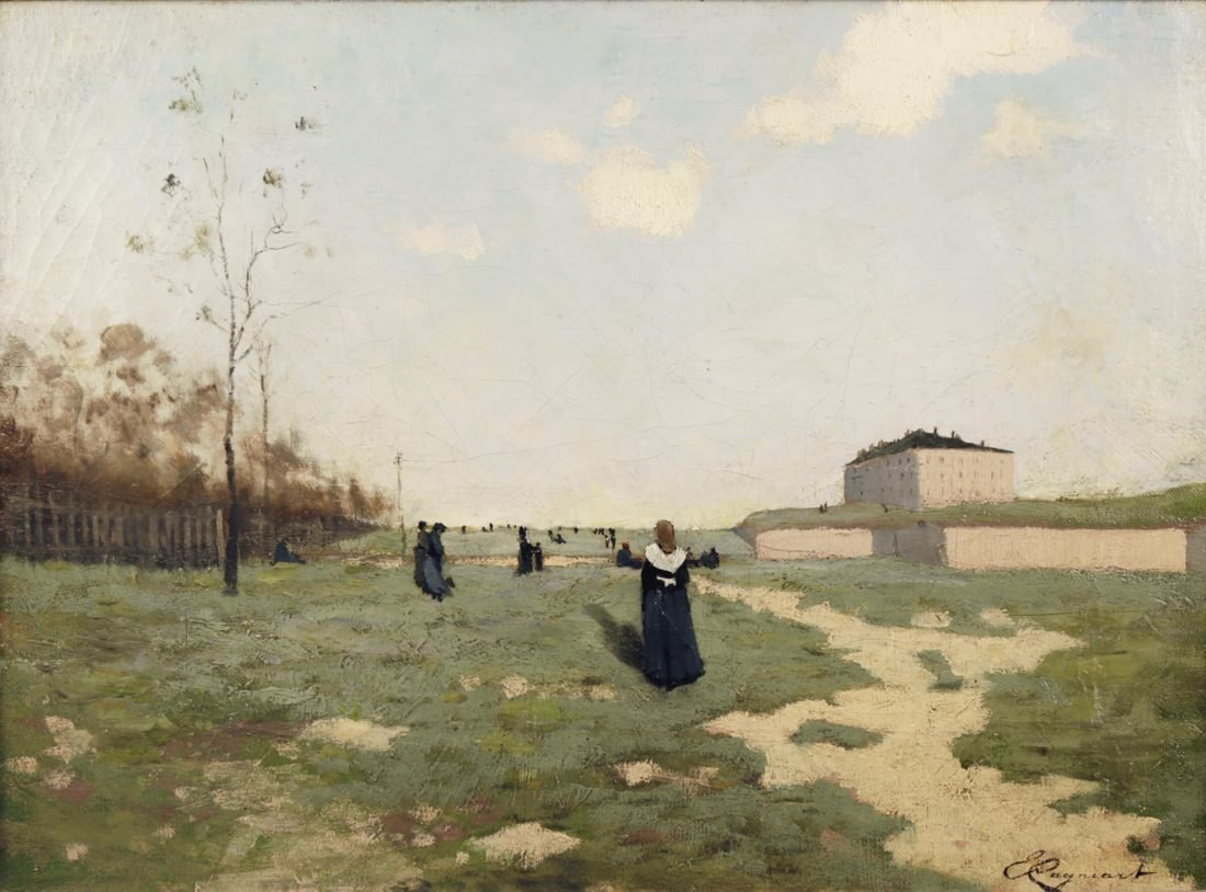 Outside a Nunnery by Émile Cagniart
