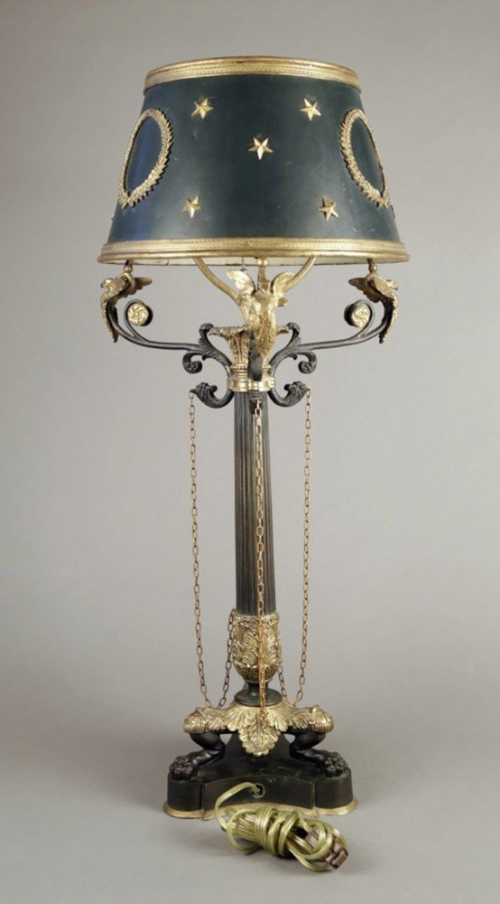Empire Tole Table Lamp