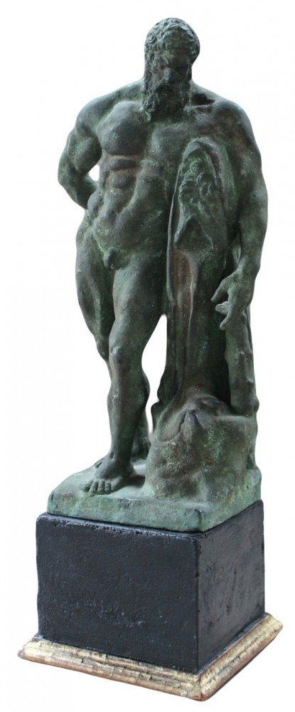Figurative Bronze on a Later Wooden Base Sculpture: