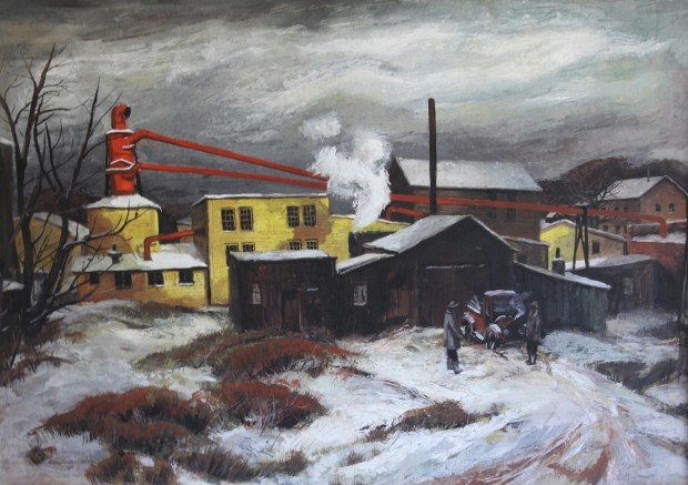 Lumber Mill by Carl Frederick Gaertner