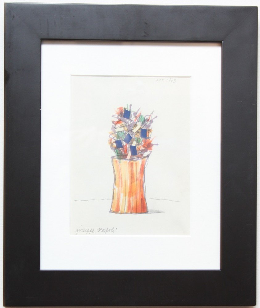 Still Life of Flowers by Giuseppe Napoli