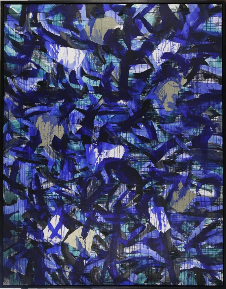 Abstract Mixed Media on Canvas: