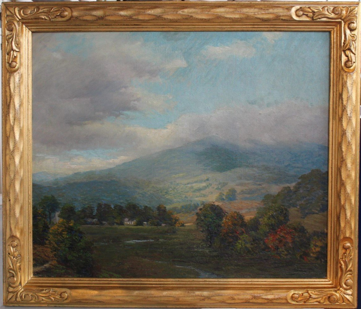 Low Clouds Over a Mountain Valley by Harold Streator