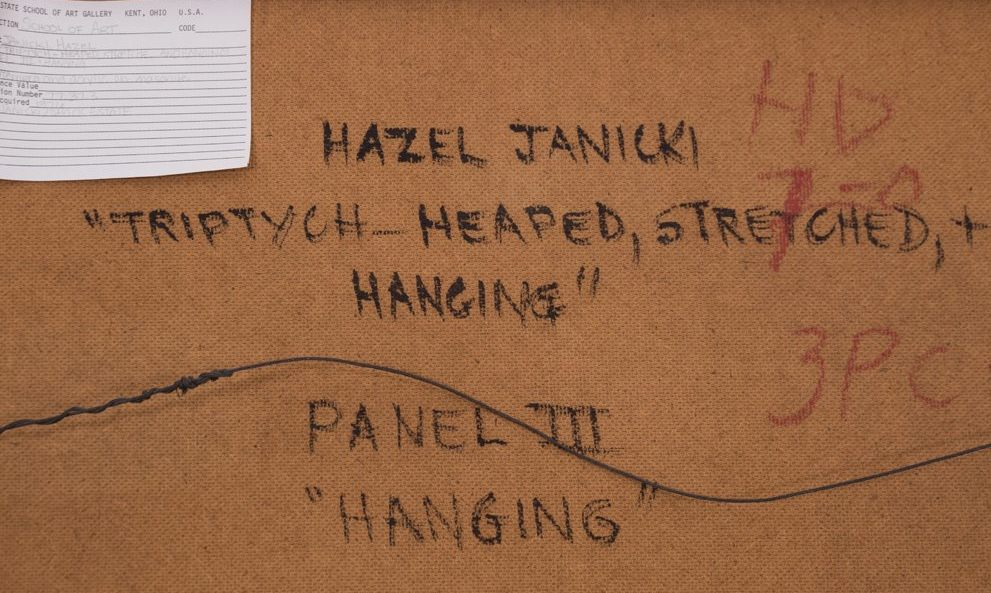 Heaped and Hanging, Diptych by Hazel Janicki
