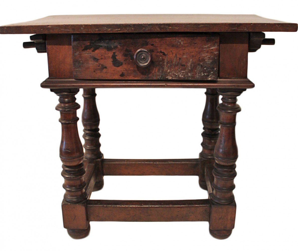 An Italian or Spanish Baroque Style Side Table
