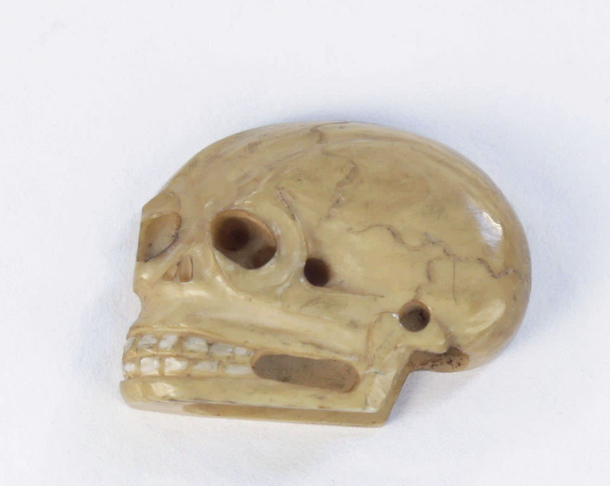 A Japanese Bone or Ivory Button or Netsuke by 19th Century Japanese School