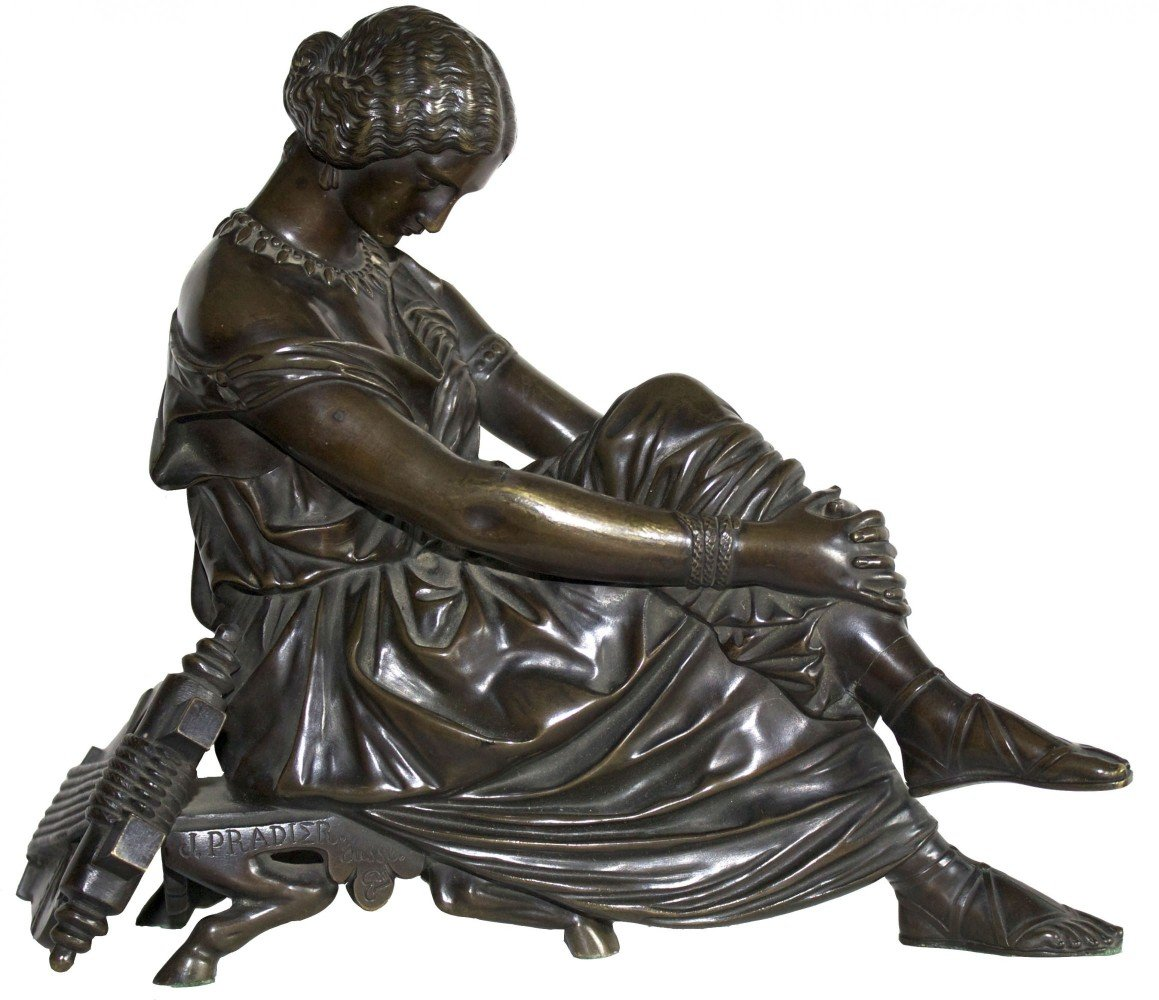 The Seated Sappho by Jean Jacques Pradier