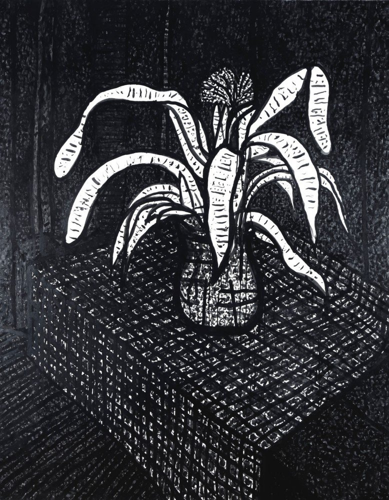 Still Life Ink on Paper Drawing: