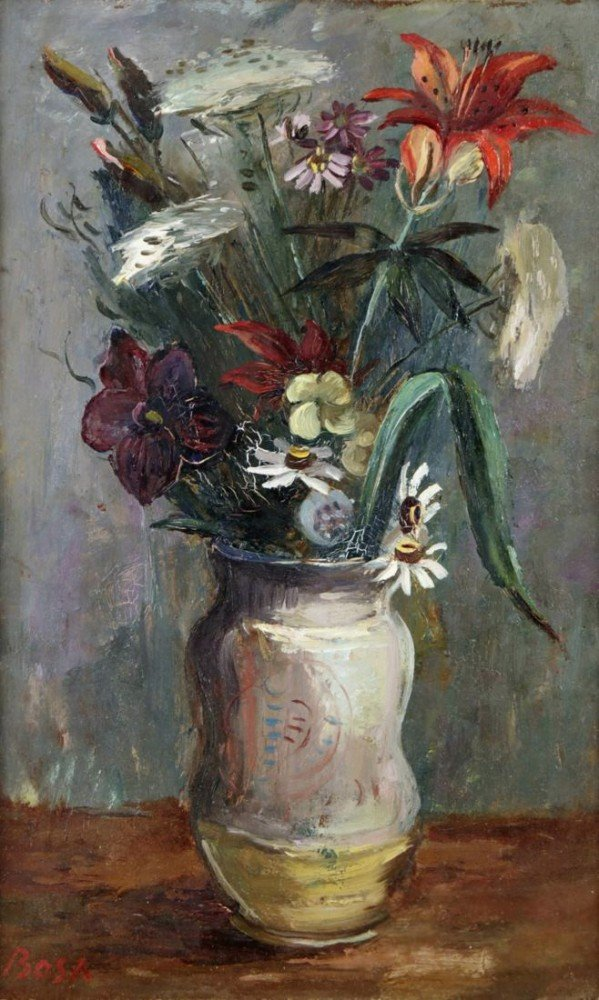 Still Life of Flowers by Louis Bosa