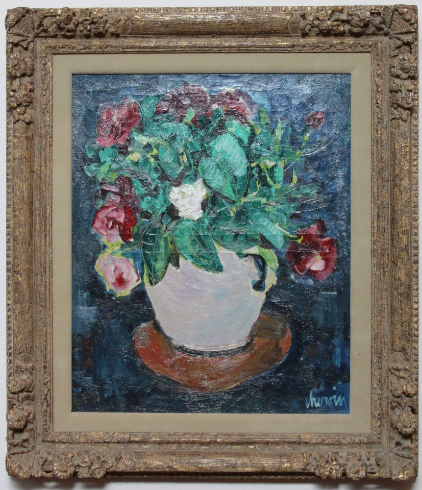 Still Life, Vase of Flowers by Louis Chervin