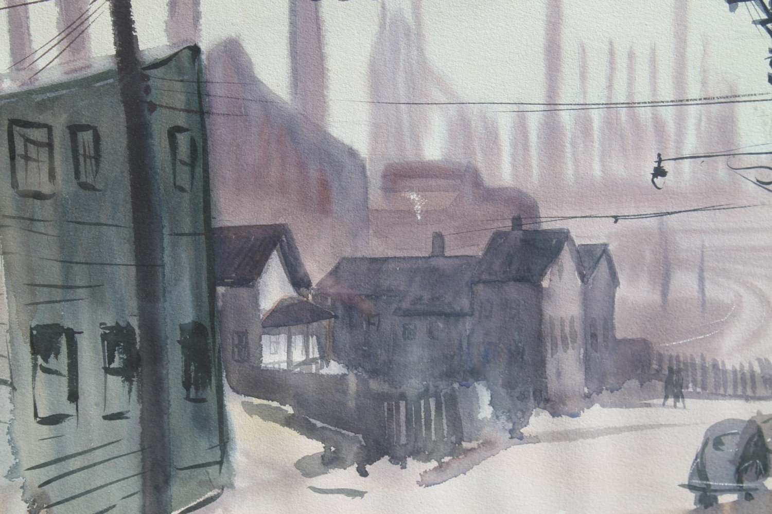 View of the Cleveland Flats by Martin Louis Linsey