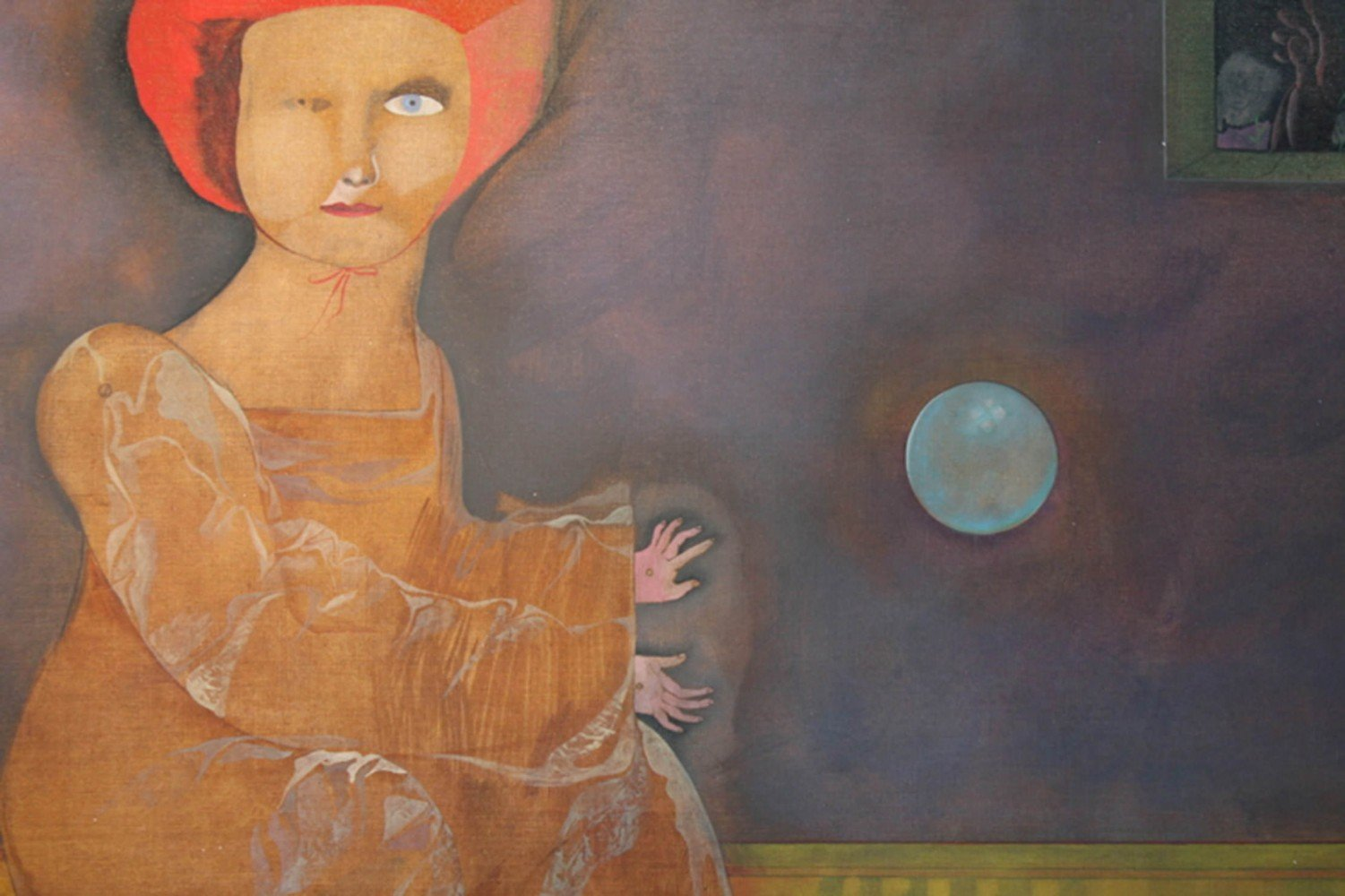 Man and Woman Playing Ball with the Moon by Mary Spain