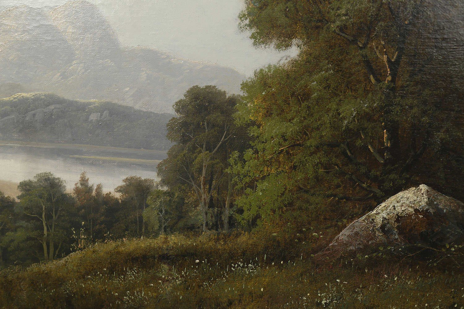 River Valley Landscape by 19th Century American School