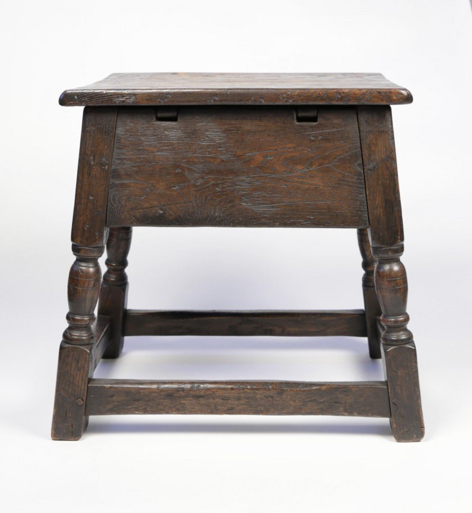 English Oak Joint Stool by 18th Century British School