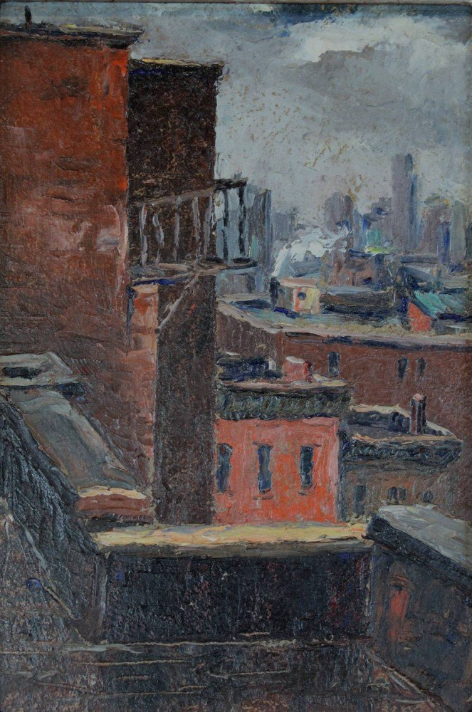Rooftops, New York City by Louis Bosa