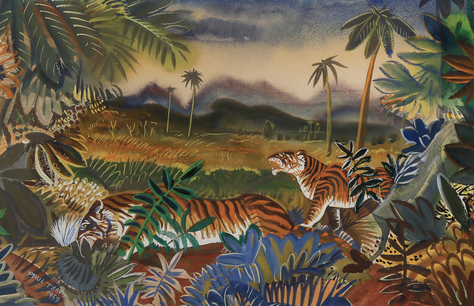 Landscape with Tigers by Paul Bough Travis