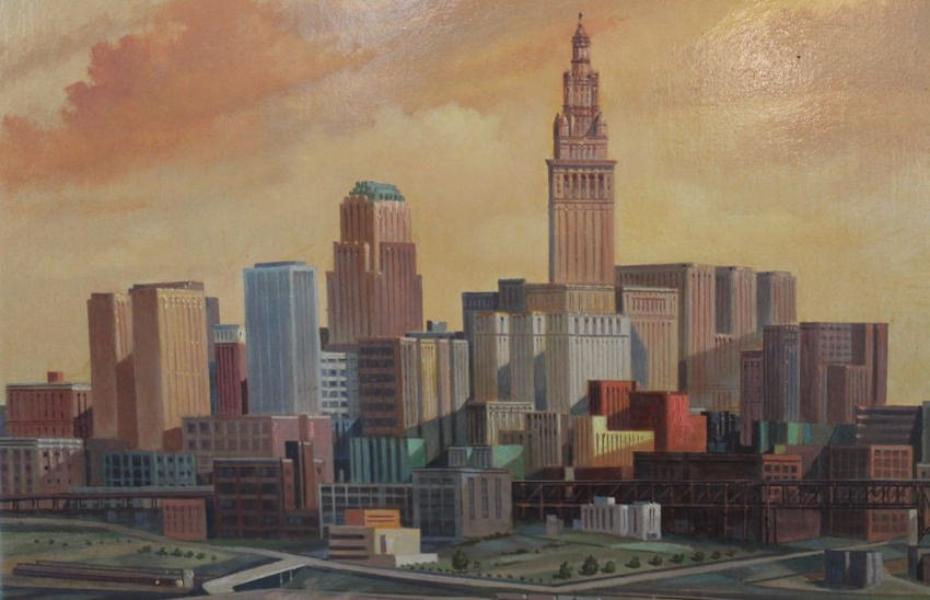 Cleveland and the Cuyahoga River by Paul Riba