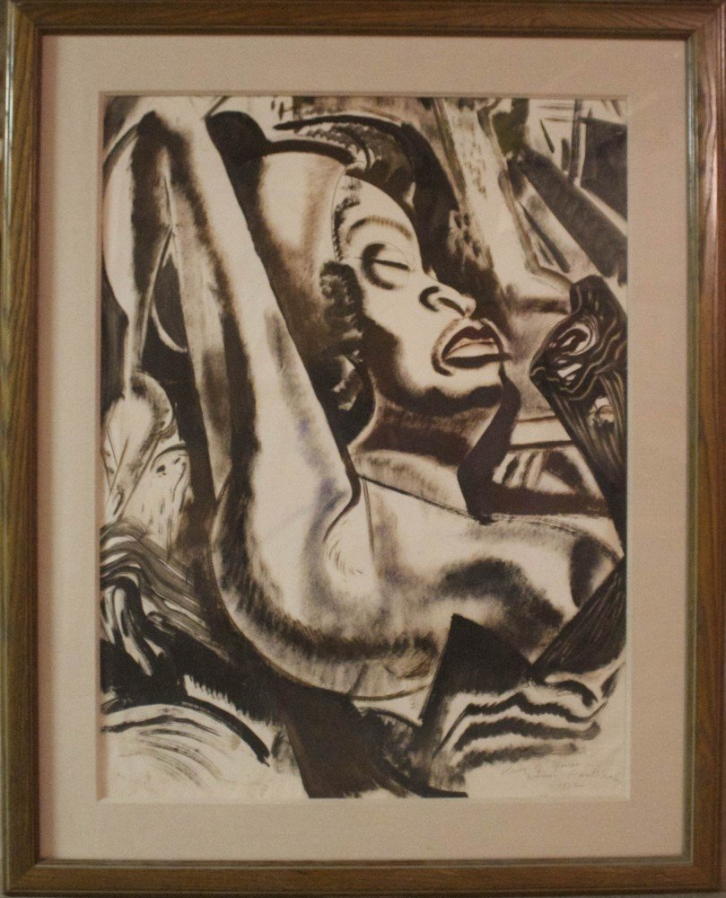 Study of African Woman by Paul Bough Travis