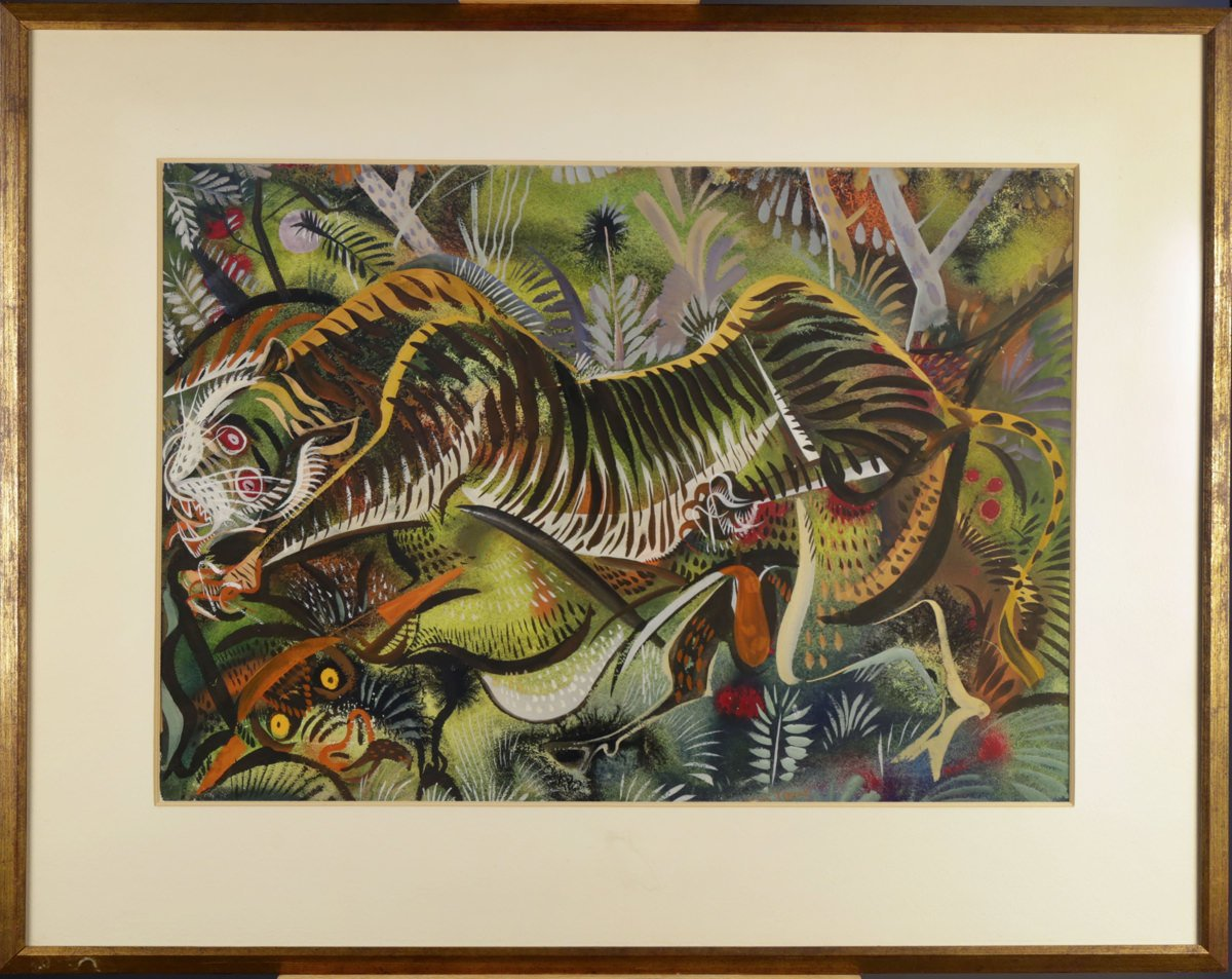Tiger and Bull by Paul Bough Travis