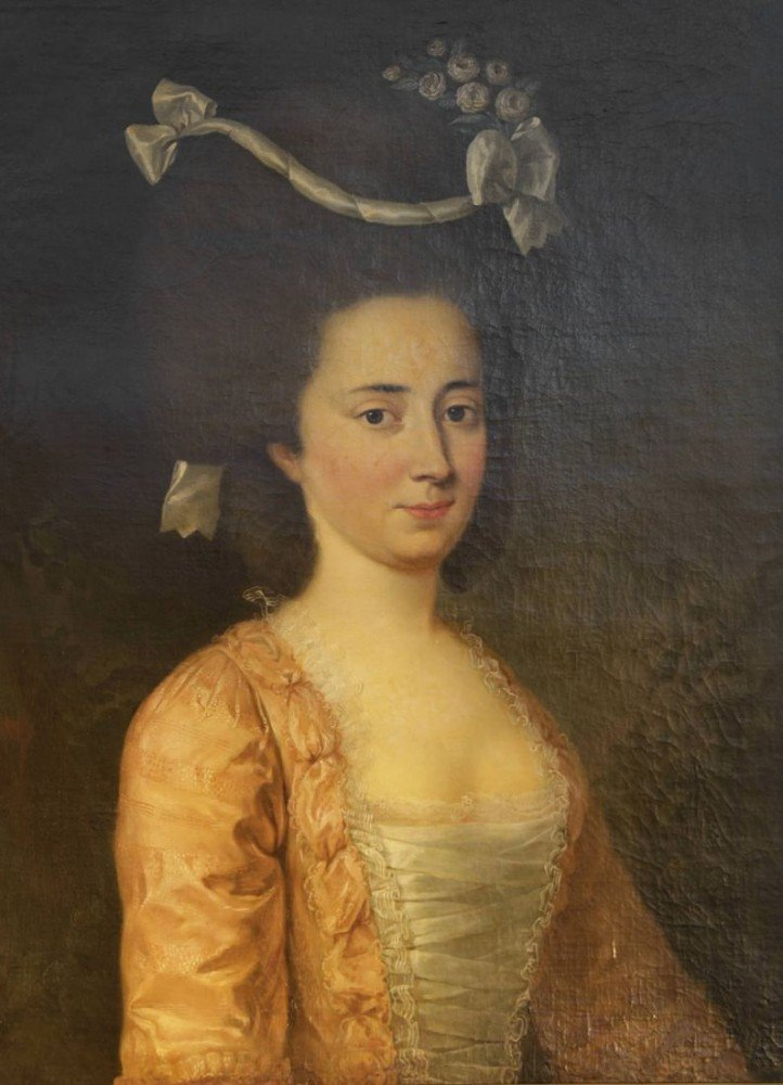Portrait of a Woman, Possibly The Marquise de Noailles by Louis Jean Francois Lagrenee, Follower