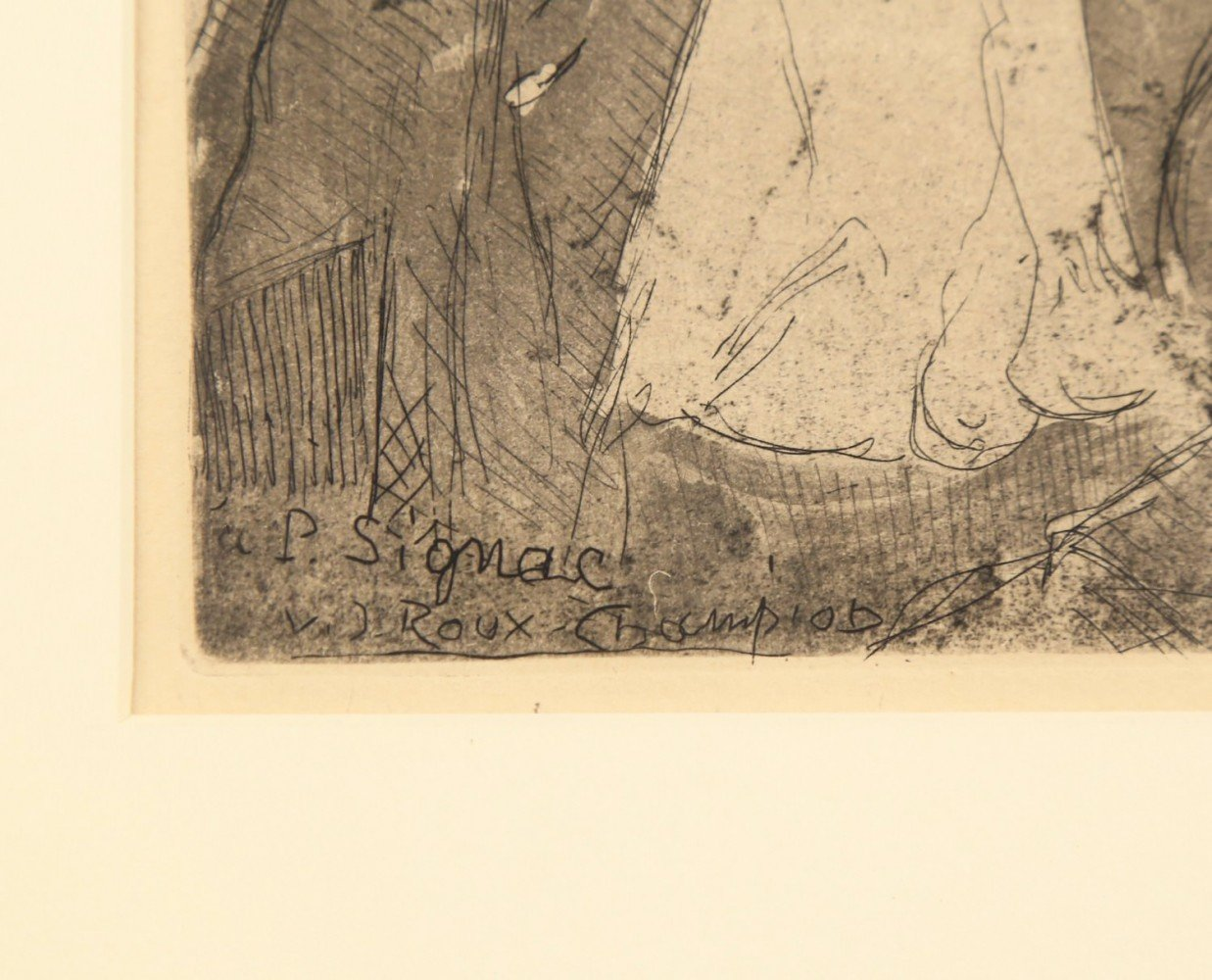Figurative Etching and Aquatint Drawing: