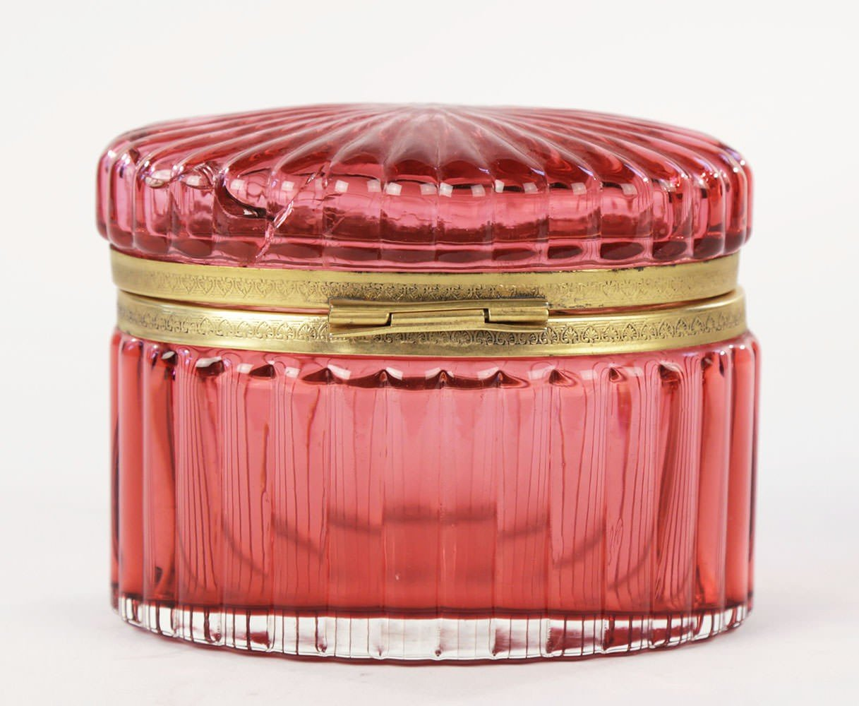 Ruby Glass Hinged Box by 19th Century French School
