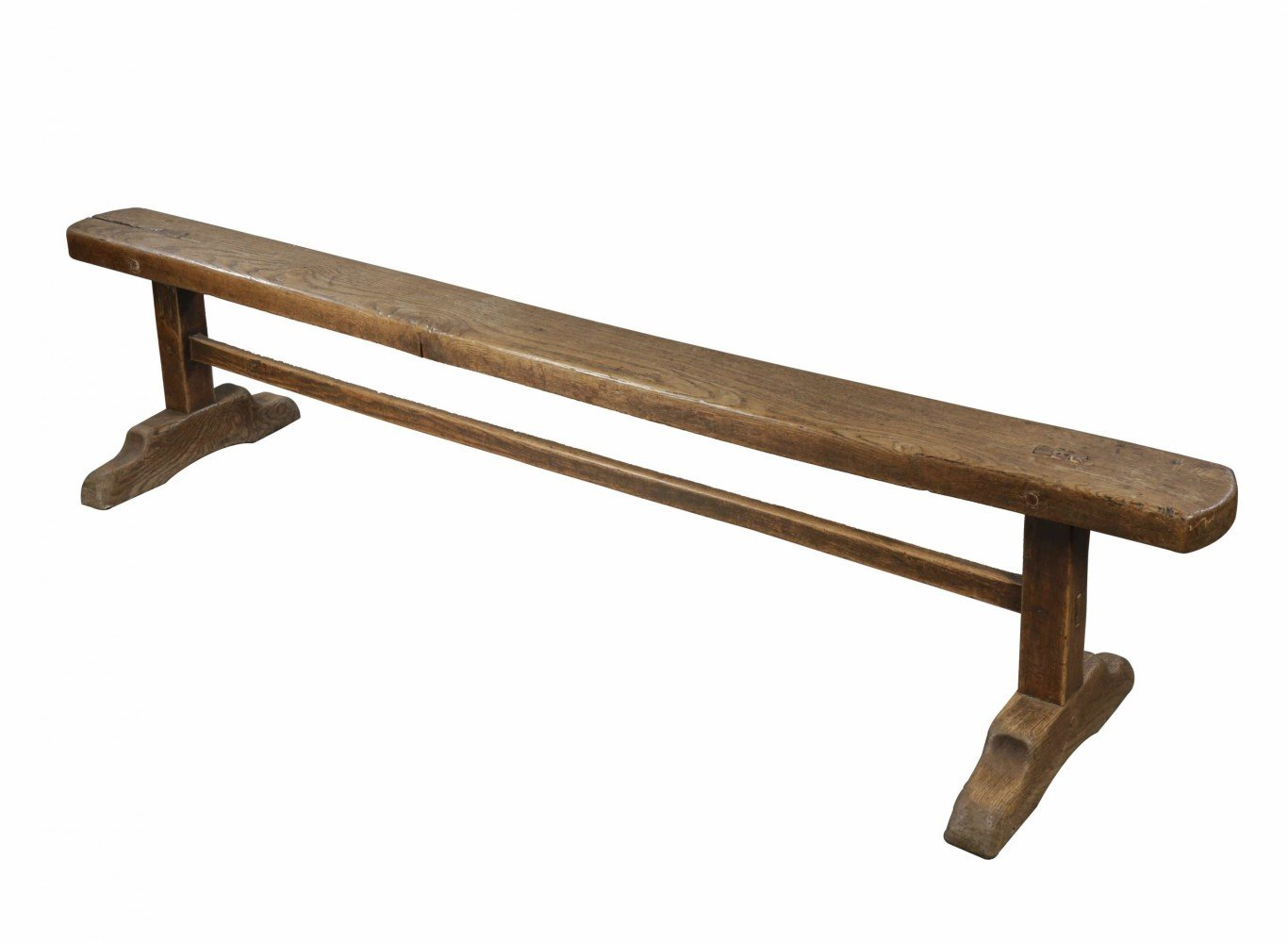Oak or Elmwood Rustic Bench