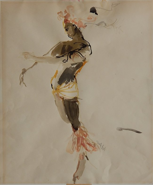 Study for a theatrical costume by Sam Scott