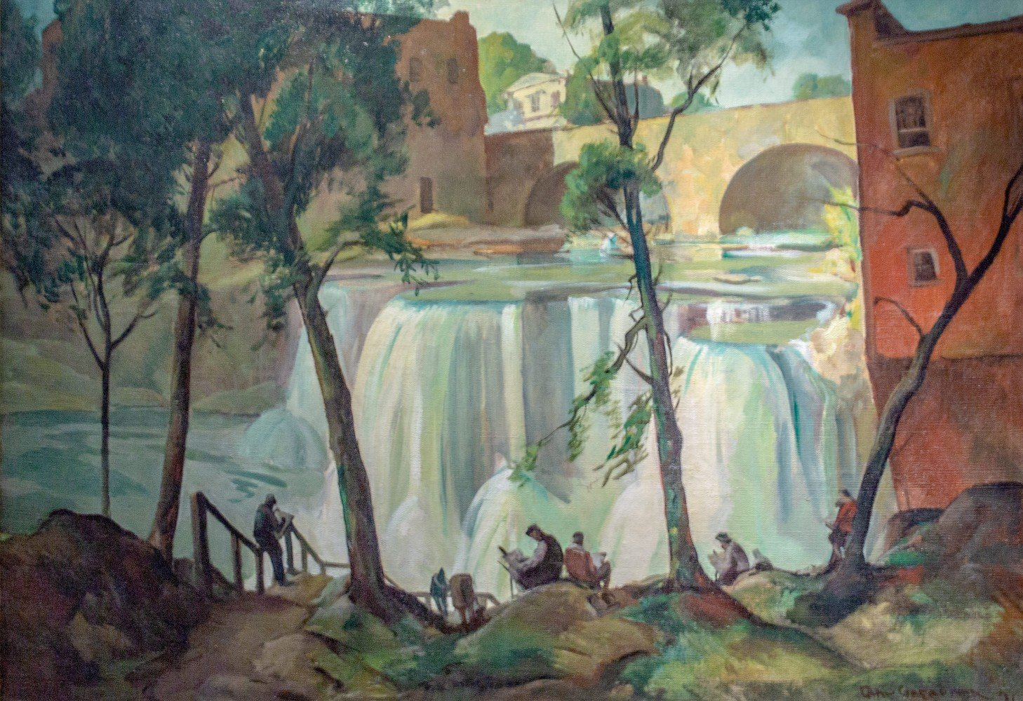 Saturday at Chagrin Falls by Carl Frederick Gaertner