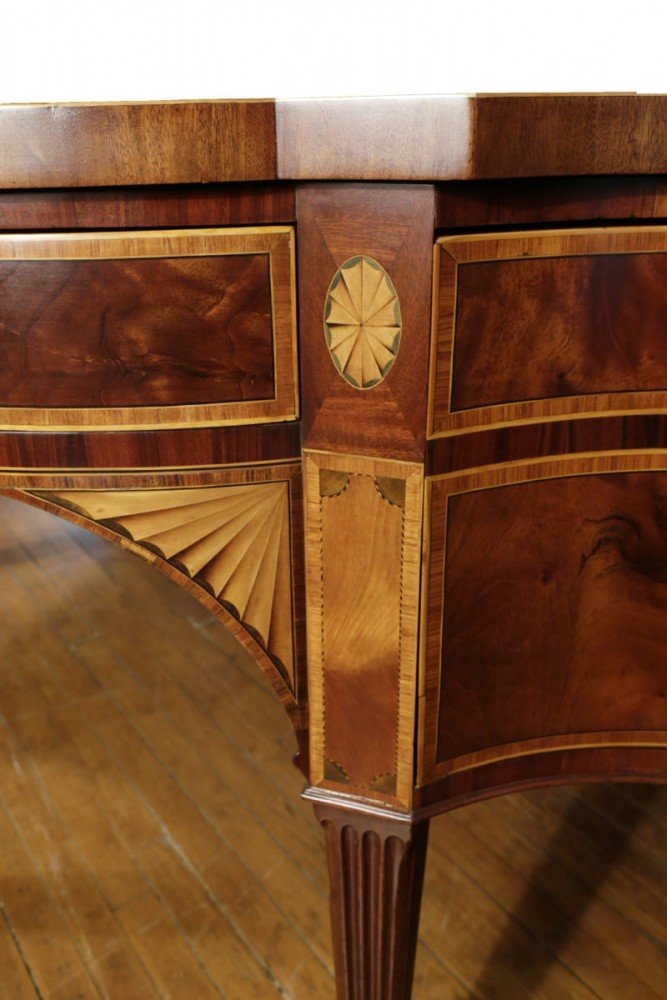 An Extremely Fine George III Mahogany Inlaid Sideboard, from the estate of J. L. Severance and attributed to Gillows and Co. by 18th Century British School